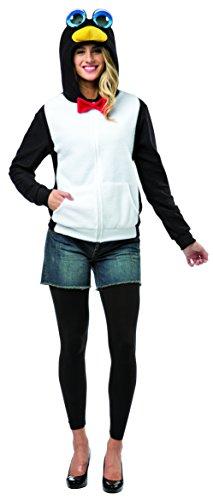 Erwachsenen-kapuzenjacke (Rasta Imposta 16003-M Schwarz-weiße Pinguin-Kapuzenjacke für Damen (M))