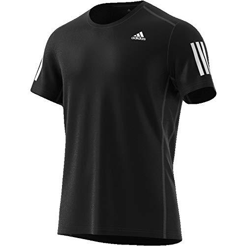 adidas Herren OWN The Run Tee T-Shirt, Black/White, M -