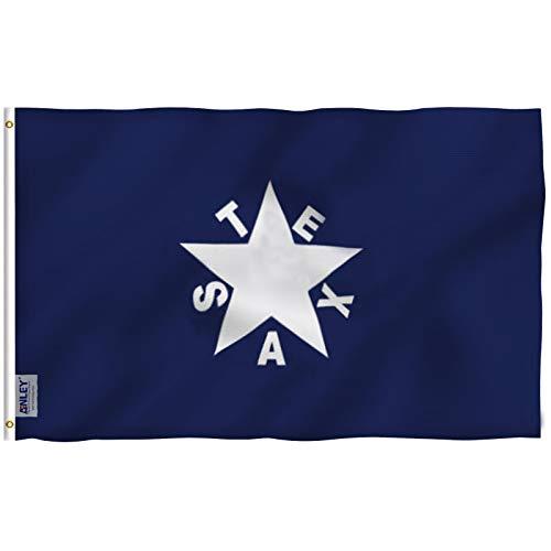 anley® [Fly Breeze] 3x 5Fuß ZAVALA de Lorenzo Texas Polyester Flagge-Vivid Color und UV farbbeständige-Leinwand Header und doppelt genäht-Texan Geschichte Flaggen mit Tüllen Messing 3x 5ft Texas Rangers Fall