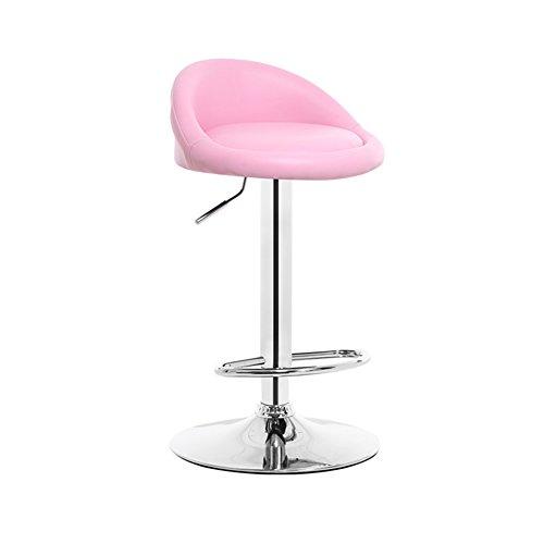 Stool home Tragbar Sessellift, einfarbiger Hocker Weicher und bequemer Sitz Elektroplattierter Metallhubstock Restaurant Hotel Balkon Hochstuhl Hochstuhl (Color : Pink, Size : 38.5 * 80CM) (Restaurant-stil-barhocker)