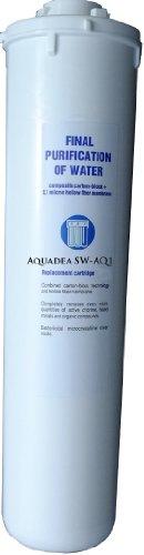 Aquadea®-Q1 Schnell-Wechsel Filterpatrone Aktivkohle-Block 0,8 µ und Mikro-Hohlfasermembran 0,1 µ Keimsperre für z.B. Filtergerät Okato,Ukato und Umkehrosmose Morion als Vor-und Nachfilter | Carbonblock | Made in EU -