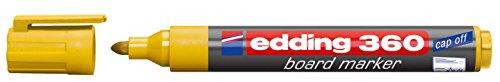 edding Whiteboardmarker edding 360, nachfüllbar, 1,5 - 3mm, gelb