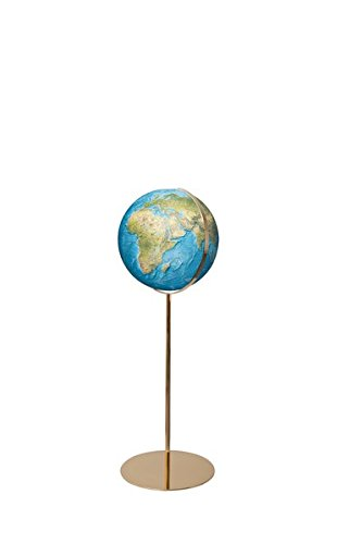 Columbus DUORAMA Leuchtglobus Standmodell Regent: handkaschiertes Kartenbild auf Acrylglaskugel, Kugeldurchmesser 40 cm, Stativ aus Messing