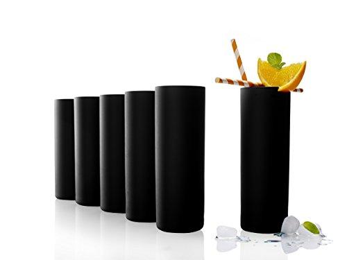 Stölzle Lausitz Campari Becher, Longdrink-Glas, Serie New York Bar, 320 ml, 6er Set, universell einsetzbar für Wasser, Säfte und Cocktails, spülmaschinenfest