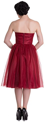 Hell Bunny - Robe - Cocktail - Uni - Sans Manche - Femme Small Rouge - Rouge