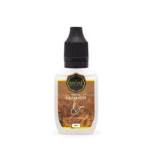 KNUQO STELLAR Juice 25ml - Tabak Klassik-Geschmack | e-Zigarette | e Shisha eLiquid Flasche | Wiederaufladbare Elektronische Zigarette Liquid | Nikotinfrei | e Shisha | eShisha Club