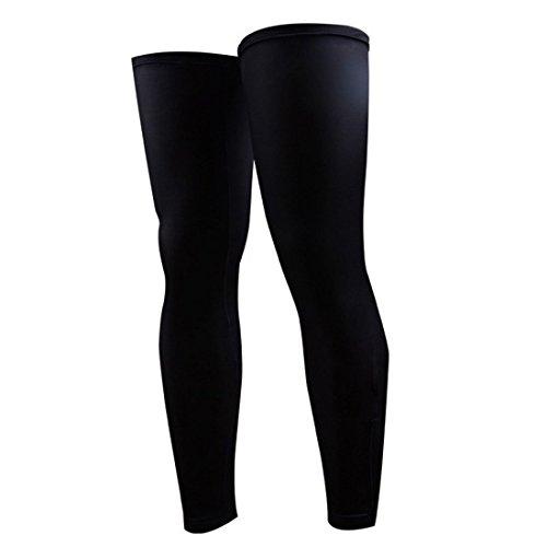 joyliveCY Erwachsene Sport Fahrrad Schwarz Radfahren Beinlinge Sonnenschutz UV Schutz Leg Knie Unterstützung Klammer Wrap (Unterstützung Fahrrad)
