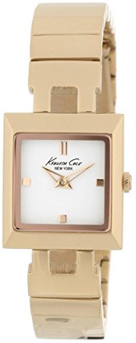 Kenneth Cole Women's Quartz Watch with White Dial Analogue Display and Gold Stainless Steel Bracelet KC4745 (Certified Refurbished)