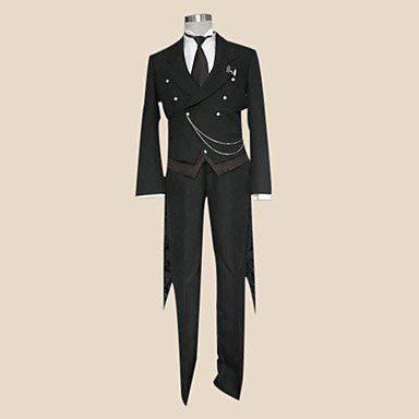 Kostüm Sebastian Butler Black - Sunkee Black Butler Cosplay Sebastian Michaelis Kostüm, Größe XL( Alle Größe Sind Wie Beschreibung Gesagt, überprüfen Sie Bitte Die Größentabelle Vor Der Bestellung )