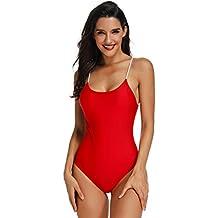 scarpe sportive 6df23 f92ed Amazon.it: costume intero piscina - Rosso