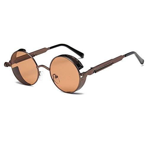 BAIF Sonnenbrille Runde Steampunk Sonnenbrille Männer Frauen Rahmen Sonnenbrille Uv400