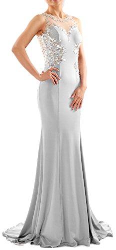MACloth - Robe - Moulante - Sans Manche - Femme Blanc - Blanc