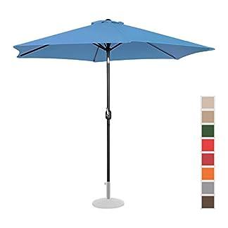 Uniprodo Sombrilla para Terraza Uni_Umbrella_TR300BL (Color Azul, Hexagonal, Pantalla De Ø 300 cm, Inclinable)