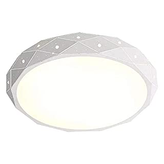 ZAOFAN Ceiling lamp master bedroom LED round warm romantic room modern home living dining balcony lighting three color Dimming size: 30 * 10cm