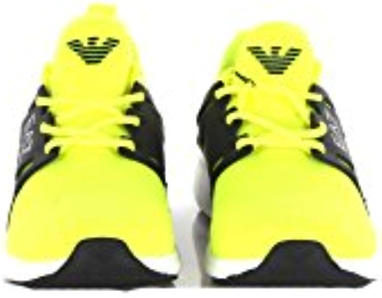EA7 Sneakers Uomo 6frac12 Giallo Fluo 248033 Cc268 Primavera Estate 2018