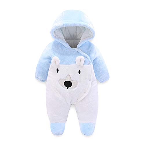 Baby Fleeceoverall Unisex Flanell Jumpsuit Neugeborene Strampler Winter Outfit 0-3 Monate -