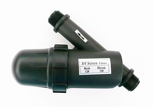 Farm & Field Hardware In-Line Flasche Typ Wasser Filter 120 Netz 130 Micron. 10 Verbindung Variationen - 3/4