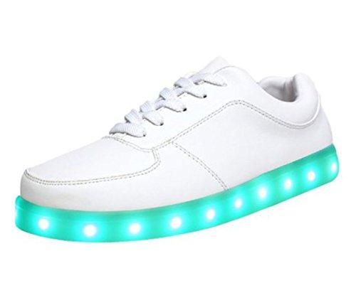 [Presente:piccolo asciugamano]JUNGLEST® 11 colori led luminoso-Scarpe da ginnastica Unisex, in stile Casual, per scarpe-Coppia di luci led, c20