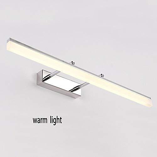 CLLCR Hauptbadezimmer-Spiegel-Scheinwerfer-Wand-Licht-Spiegel-Front-Lampen-Badezimmer-Edelstahl-geführtes Chip-warmes Licht/weiße Glühlampe eingeschlossen, Spiegel-Scheinwerfer,Warmes Licht-Chrom-6 -