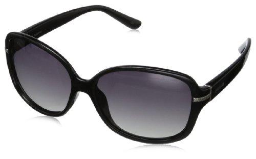Polaroid Mujer P8419 IX KIH Gafas de sol, Negro (Black/Grey Faded Polarized), 58