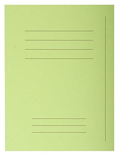 Exacompta 435013E Packung 50 Forever Aktendeckel (mit Beschriftungsfeld aus Recycling Karton 250 g, DIN A4, 21 x 29,7 cm) lindgrün