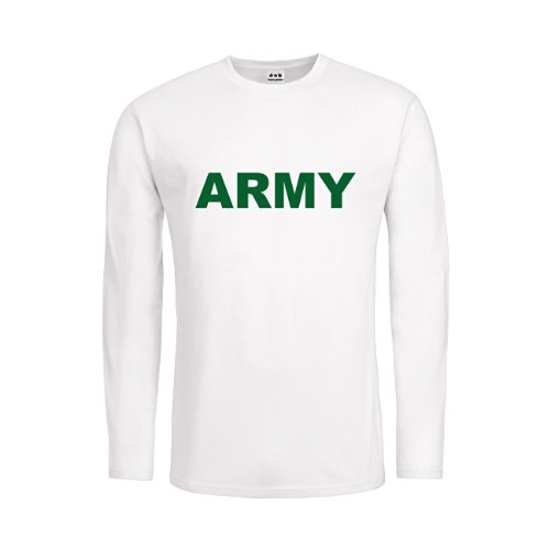 dress-puntos Kids Kinder Langarm T-Shirt Army 20drpt15-ktls00041-318 Textil White/Motiv Gruen Gr. 164