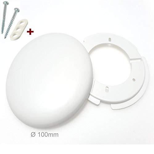 4 Stück Globe Warehouse® Lampen Abzweigdosen, Verteilerdose, weiß Ø 100, superflach, mit Montageset, Decken Abdeckung -