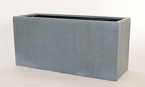 Pflanztrog Blumentrog Raumteiler Trennelement Fiberglas rechteckig LxBxH 120x50x55cm grau