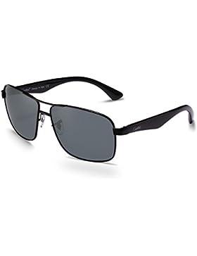Carfia UV 400 Polarisierte Sonnenbrille Neu Aviator Sonnenbrille für Damen und Herren - Metallrahmen