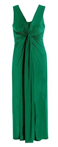 Islander Fashions Dames Clbrits Sans Manches Boob Nud Soire Maxi Womens Fancy Parties Dress EU 44-54 green