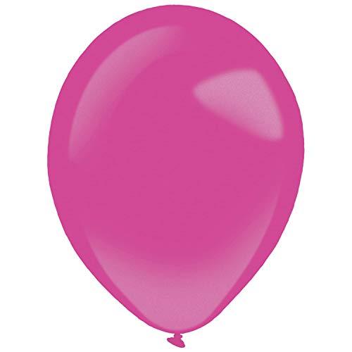 amscan 9905458 - Globos de látex (50 Unidades), Color Rosa
