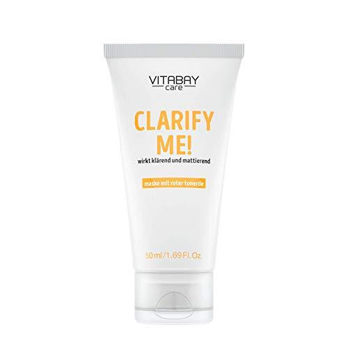 Clarify Me! - 50 ml - Gesichtsmaske für glatte, strahlende Haut und ein ebenmäßiges Erscheinungsbild. Rote Tonerde & Caviar Lime Extract. Für maximale Hautelastizität & minimierte Talgproduktion. (Für Strahlende Haut)