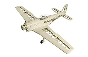 Jamara- 006151-Mustang P-51D 1400 mm GP/EP CNC Lasercut Kit de construcción Avion RC, Color Madera (6151)