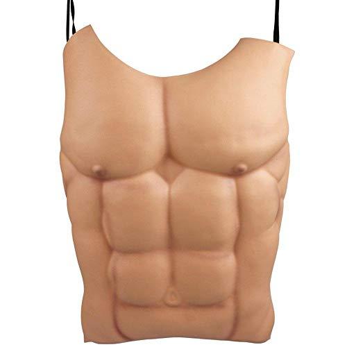 Uteruik Fake Männliche Muskeln Brust Haut Lebensgröße