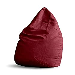 Lumaland Luxury XL PLUS Sitzsack stylischer Beanbag 220L Füllung mit extra starken Nähten Rot