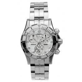 Michel Herbelin Unisex Erwachsene Chronograph Uhr mit Edelstahl Armband 34591/89B