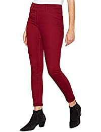 f0dbfea84e6cc1 Debenhams The Collection Womens Dark Red Skinny Fit Jeggings