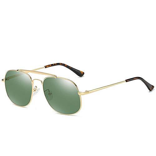 Yiph-Sunglass Sonnenbrillen Mode Herren Vintage Angeln Fahren Sonnenbrillen Polarisator Flieger Platz Frosch Spiegel Anti Blau Licht. (Farbe : Grün)