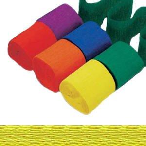 PARTY DISCOUNT Krepppapier-Bänder, 4,4cm x 24,7m, Buttercup Gelb