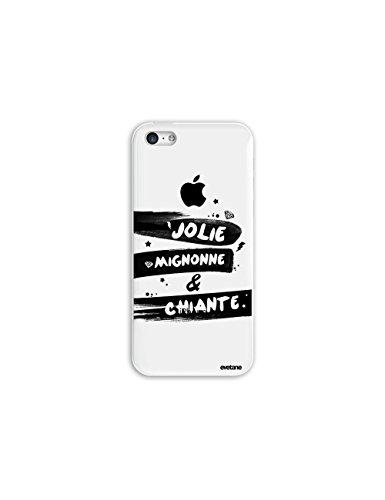 Coque iPhone 5C Plastique rigide, EVETANE® Coque iPhone 5C Protection Tendance et Design Original [Jolie Mignonne et chiante] [Collection Humour] [Produit et Designé en France]