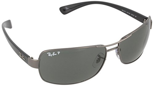 Ray-Ban RB 3379 004/58 Gunmetal / Crystal Green Polarized