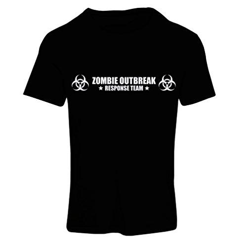 N4519F Frauen T-Shirt Zombie Outbreak Response Team (Large Schwarz Weiß)