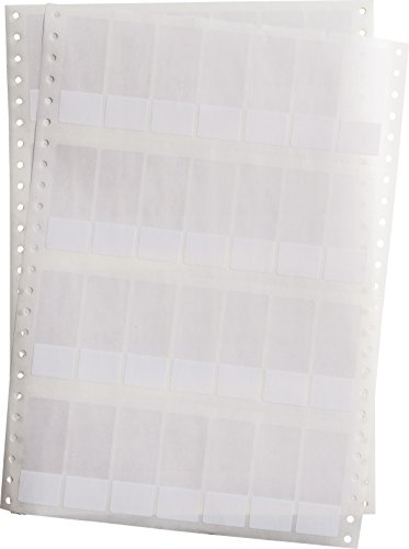 Brady, DAT-185-292-2.5, selbstlaminerendes Vinyl, Weiß/Transparent, matt, 25,4 x 19,05(63,5)mm, permanent, 7-bahnig, f. Nadeldrucker (2500 E.) (016181)