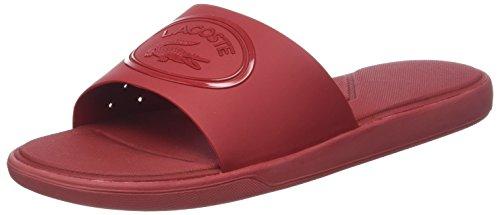 Lacoste L.30 Slide 318 1 Cam, Infradito Uomo, Rosso Dk Red Dr2, 47 EU
