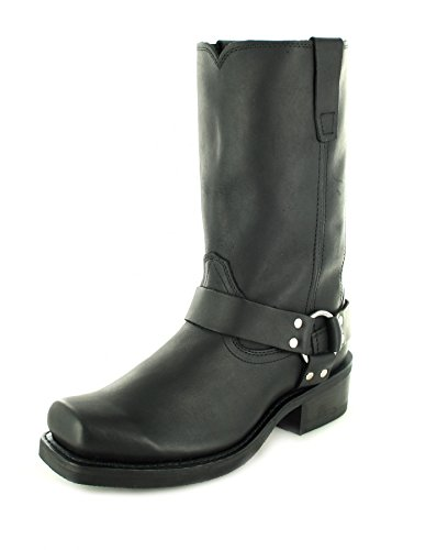 FB Fashion Boots Durango Boots Harness DB510 D Black/Herren Bikerstiefel Schwarz/Motorradstiefel/Biker Boots, Groesse:43 (10 US) (Rindsleder Schwarz Harness)