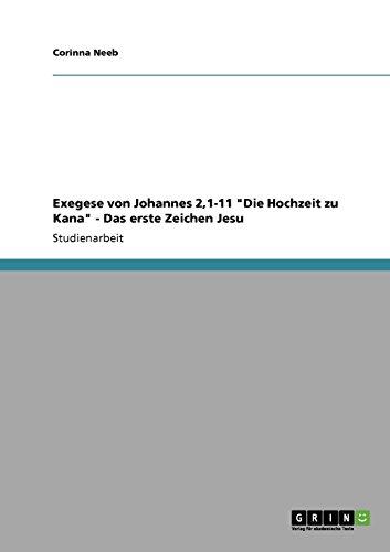 Exegese von Johannes 2,1-11