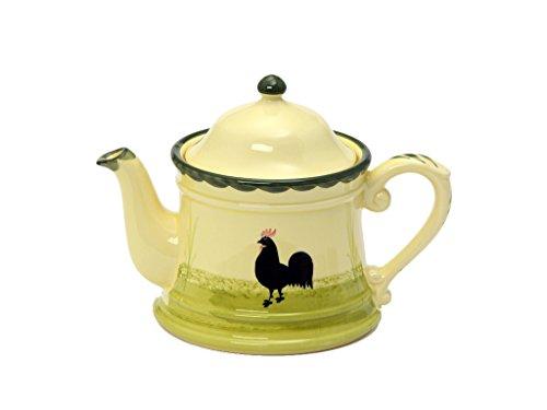 Zeller Keramik Teekanne Hahn und Henne Servierware 1,00 Liter