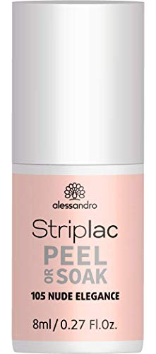 alessandro Striplac Peel or Soak 105 Nude Elegance - LED Nagellack, 8 ml -