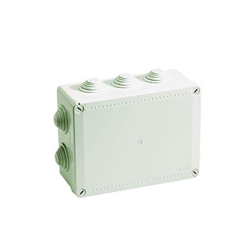 boite de dérivation - a tétines - 190 x 140 x 70 mm - gris - boite étanche - iboco 05537