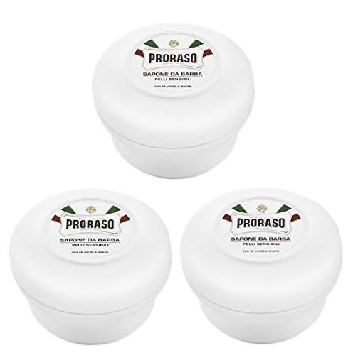 3er Weiß Rasierseife Proraso im Rundtopf Shaving Soap je 150 ml = 300 ml -